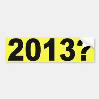 ¿2013? PEGATINA PARA AUTO