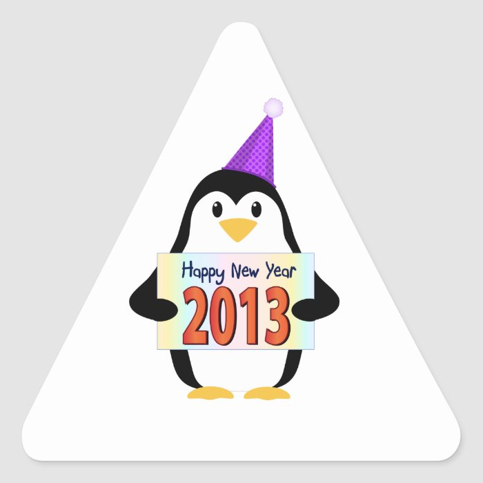 2013 Penguin Triangle Sticker