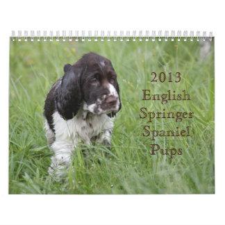 2013 perritos del perro de aguas de saltador calendarios
