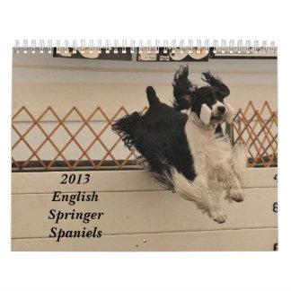 2013 perros de aguas de saltador inglés calendario