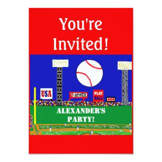 "2013 Personalized Kids Sports Birthday Invitation 5"" X 7"" Invitation Card"