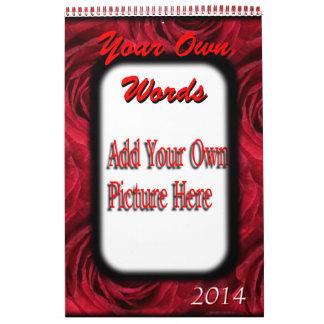 2013 Photos Rose Calendar-customize