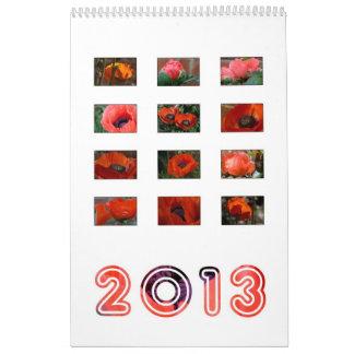 2013 - poppy calendar