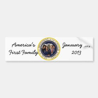 2013 PRESIDENT OBAMA Presidential Inauguration Car Bumper Sticker