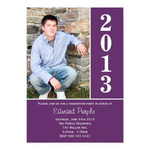 2013 Purple Graduation Announcement