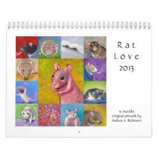 2013 rat calendars fun cute pet rat art 13 months