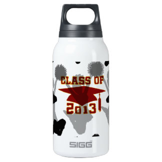 2013 red gold thermos water bottle