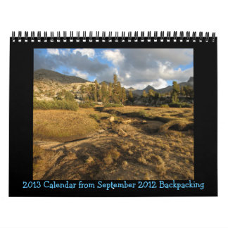 2013 Sierras Calendar Marie Lk & Bear Lks Basin