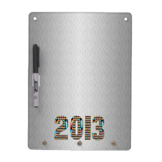 2013 Silver Chrome Sparkle Base Dry Erase Board