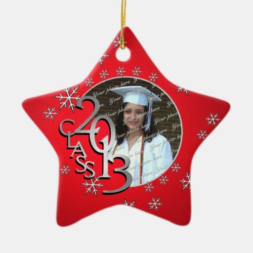 2013 Star Graduate Photo Christmas Ornaments