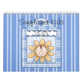 2013 Sunflower Kids Blue Large Calendar