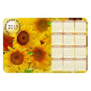 2013 Sunflowers Calendar Magnet