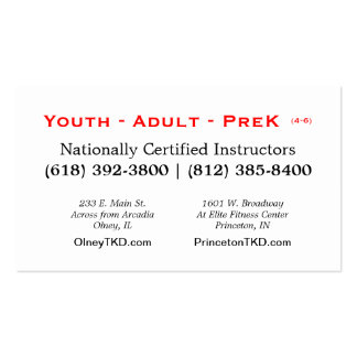 2013 TKD card Double-Sided Standard Business Cards (Pack Of 100)