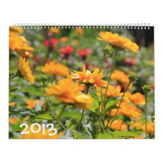 ¡2013, un año de floraciones!  traiga el jardín calendarios
