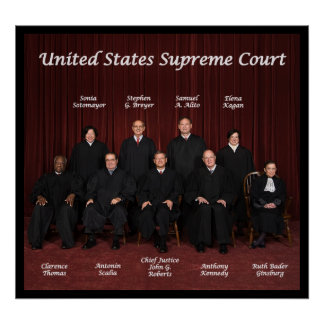 2013 United States Supreme Court Justices Poster
