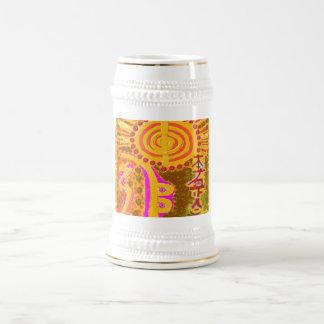 2013 ver. REIKI Healing Symbols 18 Oz Beer Stein