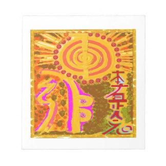 2013 ver. REIKI Healing Symbols Note Pad