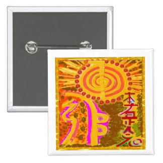 2013 ver. REIKI Healing Symbols Pinback Button