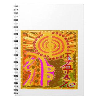 2013 ver. REIKI Healing Symbols Spiral Notebook