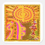 2013 ver. REIKI Healing Symbols Square Stickers
