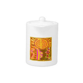 2013 ver. REIKI Healing Symbols Teapot