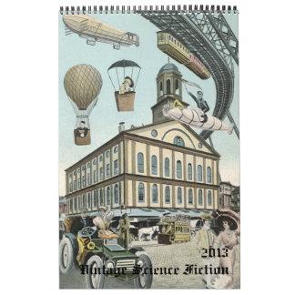 2013 Vintage Steampunk Science Fiction Sci Fi Calendar