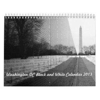 2013 Washington DC Black and White Calendar