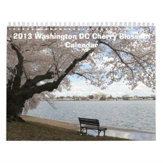 2013 Washington DC Cherry Blossom Calendar