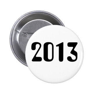 2013 White Button With Black Lettering