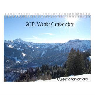 2013 World Calendar Calendarios De Pared