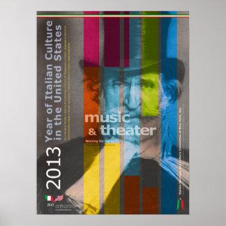 2013 Year of Italian Culture Giuseppe Verdi Poster