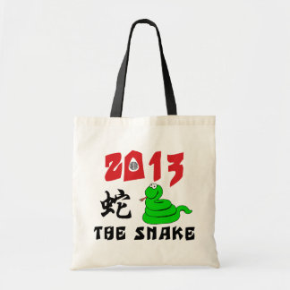 2013 Year of The Snake Budget Tote Bag