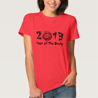 2013 Year of the Snake Black T-Shirt