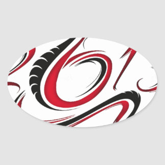 2013 - Year of the Snake Oval Sticker