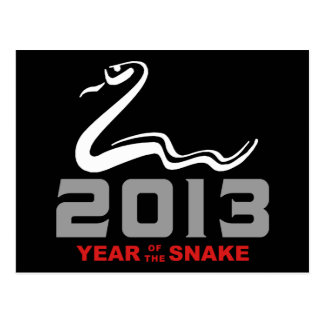 2013 Year of The Snake Postcard
