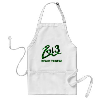 2013 Year of the Snake with Green Snake Adult Apron