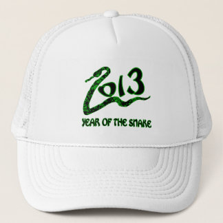 2013 Year of the Snake with Green Snake Trucker Hat