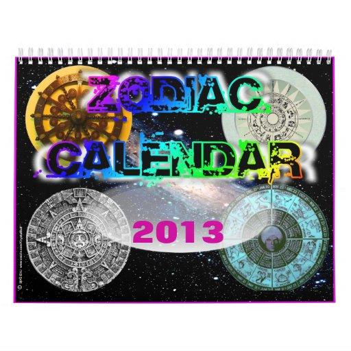 2013 Zodiac Calendar from Crystal Ball