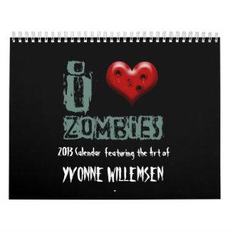 2013 zombie calendar