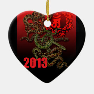 2013f Double-Sided heart ceramic christmas ornament