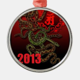 2013f round metal christmas ornament