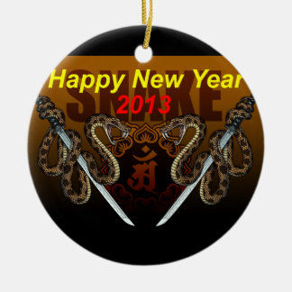 2013i Double-Sided ceramic round christmas ornament