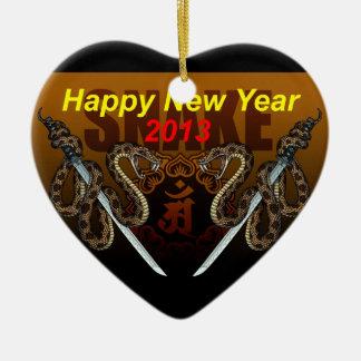 2013i Double-Sided heart ceramic christmas ornament