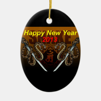 2013i Double-Sided oval ceramic christmas ornament