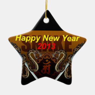 2013i Double-Sided star ceramic christmas ornament