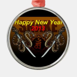 2013i round metal christmas ornament