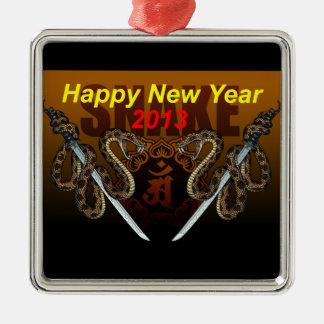 2013i square metal christmas ornament