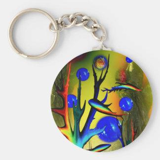 20140226-IMG_5275 Fantasy Fische Basic Round Button Keychain