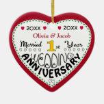 2014 1st Wedding Anniversary Gifts-Christmas Ornament