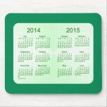 2014-2015 calendario del verde de mar del año esco